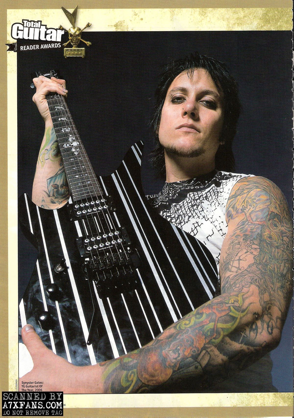 Synyster Gates With His Guitar Wallpaper